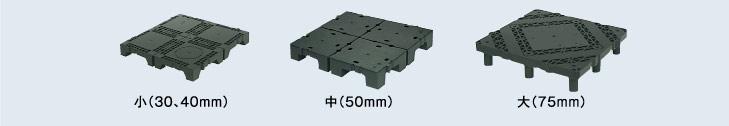 OAフロアの3種類のサイズ