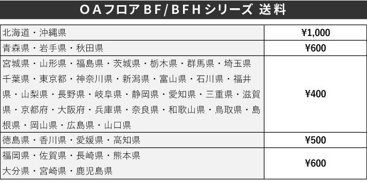 OAフロアBF・BFHシリーズ送料