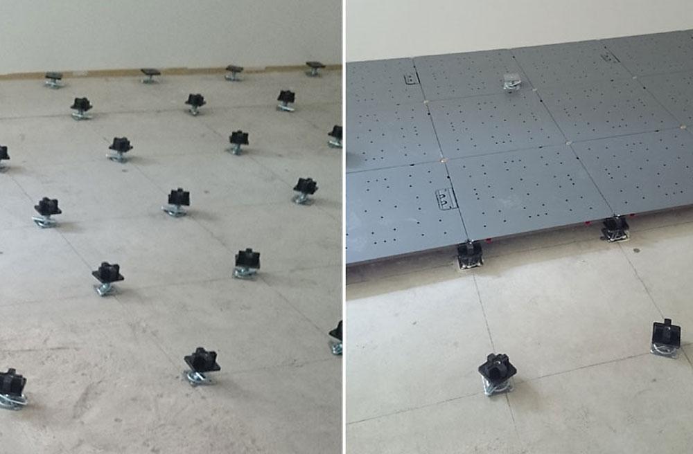 新築オフィスの床をOAフロアに