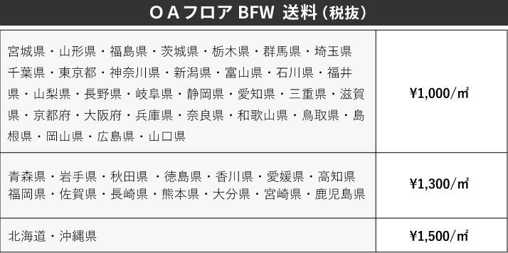 BFW送料