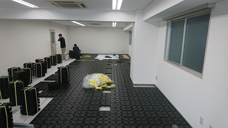 倉庫の一室を事務所にするOA工事