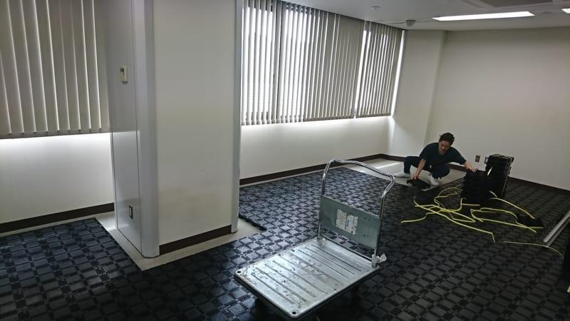 BF50を用いたオフィスのOAフロア工事